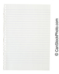 page notebook - A page ripped off from the notebook