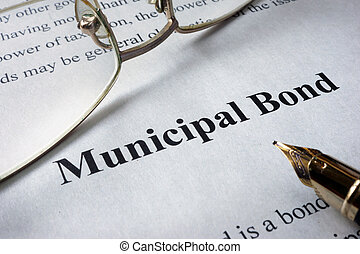 municipal bonds - Page of newspaper with words municipal...
