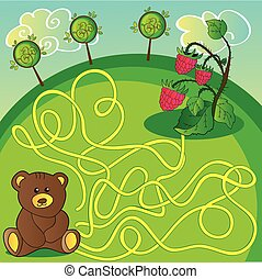 page., ou, ours, manière, jeu, choisir, labyrinthe, droit, activité, aide