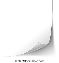 Vector White Page Curl Paper Corner isolated on white background. EPS10 opacity. Editable EPS and Render in JPG format