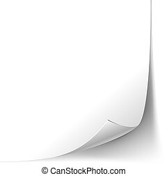Vector White Page Curl Paper Corner isolated on white background