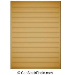 page., semplice, nota gialla, vettore, cuscinetto