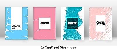 page, template., conception, brochure, layou, couverture, ...