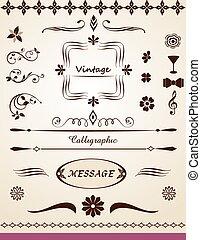 page, texte, décorations