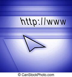 page web, flèche