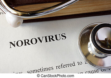 Page with diagnosis Norovirus.