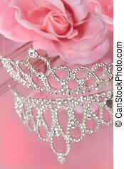 Pageant crown - Mirror reflection of a beautiful diamond or...