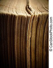 pages., dof., vindima, raso, -, bordas, macro;, livro