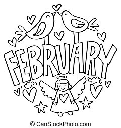 pages, février, gosses, coloration