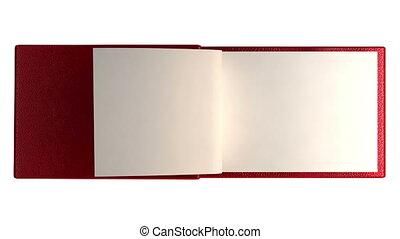 pages, livre, moderne, vide, isolat