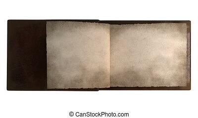 pages, livre, renverser, vendange