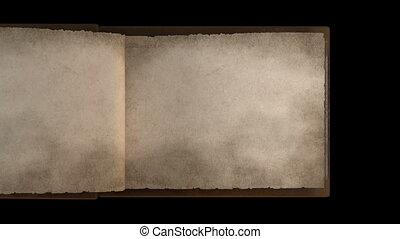 pages, livre, vieux, tourner