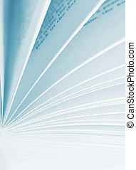 Pages of a book - High contrast image of book pages turning