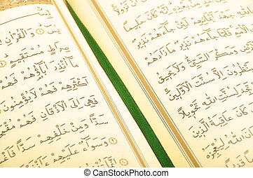 Al quran or koran, central religious text of islam