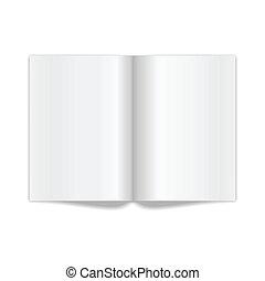 pages., vetorial, ilustração, espalhar, em branco, branca,...