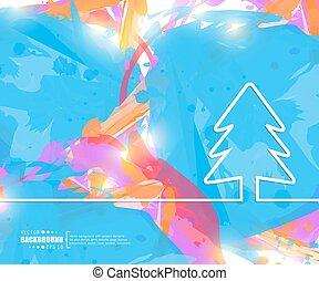 pagina, arte, manifesto, albero., bandiera, fondo., flyer., creativo, presentazione, sagoma, natale, logotipo, affari firmano, disposizione, libretto, illustrazione, stampa, carta da parati, infographic, vettore, opuscolo