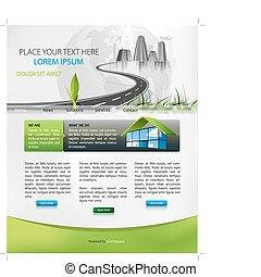 pagina del web, disegno