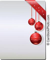 pagina, kerstmis, vector, cadeau