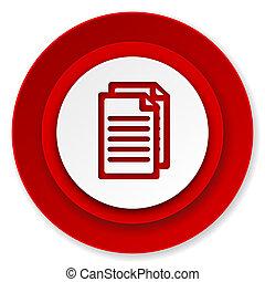 pagina's, document, meldingsbord, pictogram