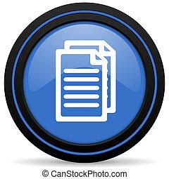 pagina's, document, pictogram, meldingsbord