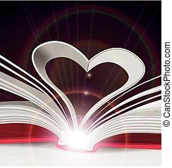 pagina's, hart, boek
