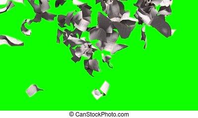 pagina's, het vallen, witte , papier, boek, literatuur, bedrijfsschool, groene, scherm, 4k