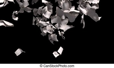 pagina's, het vallen, witte , papier, boek, literatuur, bedrijfsschool