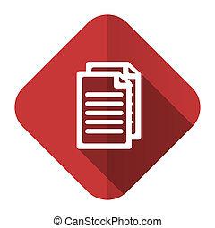 pagina's, meldingsbord, document, pictogram, plat