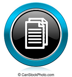 pagina's, meldingsbord, glanzend, document, pictogram