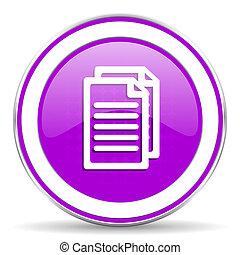 pagina's, meldingsbord, viooltje, document, pictogram