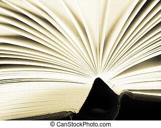pagina's, van, een, boek