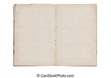 pagine, libro, vecchio, aperto, vuoto