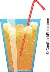 paglia, bevanda, ghiaccio