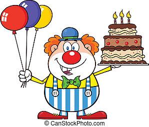 pagliaccio, compleanno, palloni