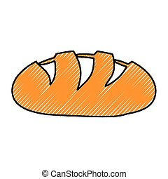 pagnotta, bread, immagine, icona