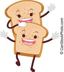 pagnotta, bread, mascotte
