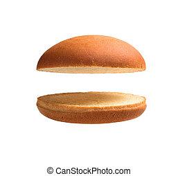 pagnotta hamburger, isolato, vuoto
