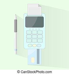 pago, proceso, por, tarjeta, en, plano, design.