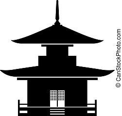 Pagoda, a stupa tiered tower