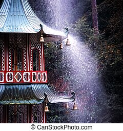 Pagoda and fountain, UK.