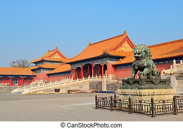 Forbidden City - Pagoda architecture in Forbidden City in ...