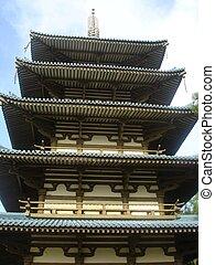 pagoda, asiático