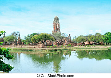 Pagoda at the ancient city, Ayutthaya, Thailand
