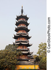 Pagoda at the Longhua Temple in Shanghai, China