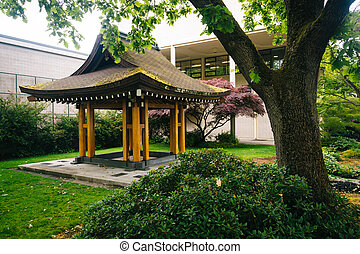 Pagoda at the Seattle Center, in Seattle, Washington.
