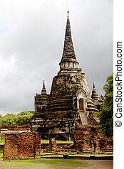 Pagoda at Wat Chaiwattanaram Temple