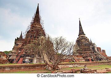 Pagoda at Wat Phra Sri Sanphet Temple, Ayutthaya, Thailand