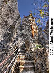 pagoda, bosque, piedra, kunming, shilin