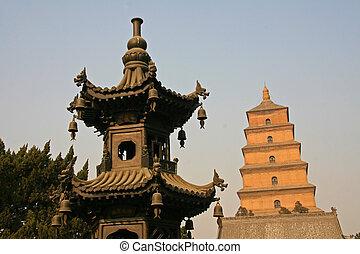 pagoda, buda, xian