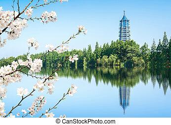Pagoda by the lake